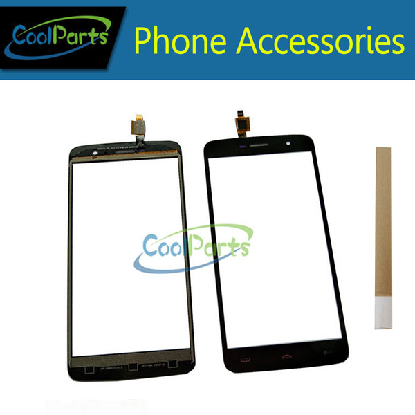 1PC/Lot High Quality 5.5'' For <font><b>Homtom</b></font> <font><b>HT17</b></font> <font><b>Homtom</b></font> <font><b>HT17</b></font> Pro <font><b>Touch</b></font> <font><b>Screen</b></font> Digitizer <font><b>Touch</b></font> Panel Lens Glass Black Color With Tape image