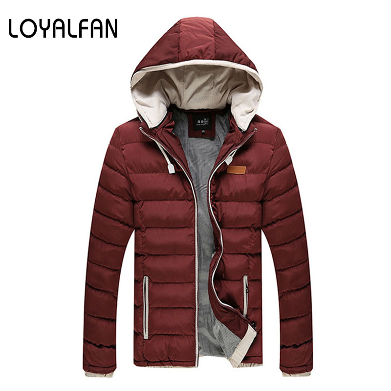 ФОТО 2016 New Winter Jacket Men Parka Winter Cotton padded Coats Feather Parkas For Men Cotton padded Clothes Male Casual Jacket