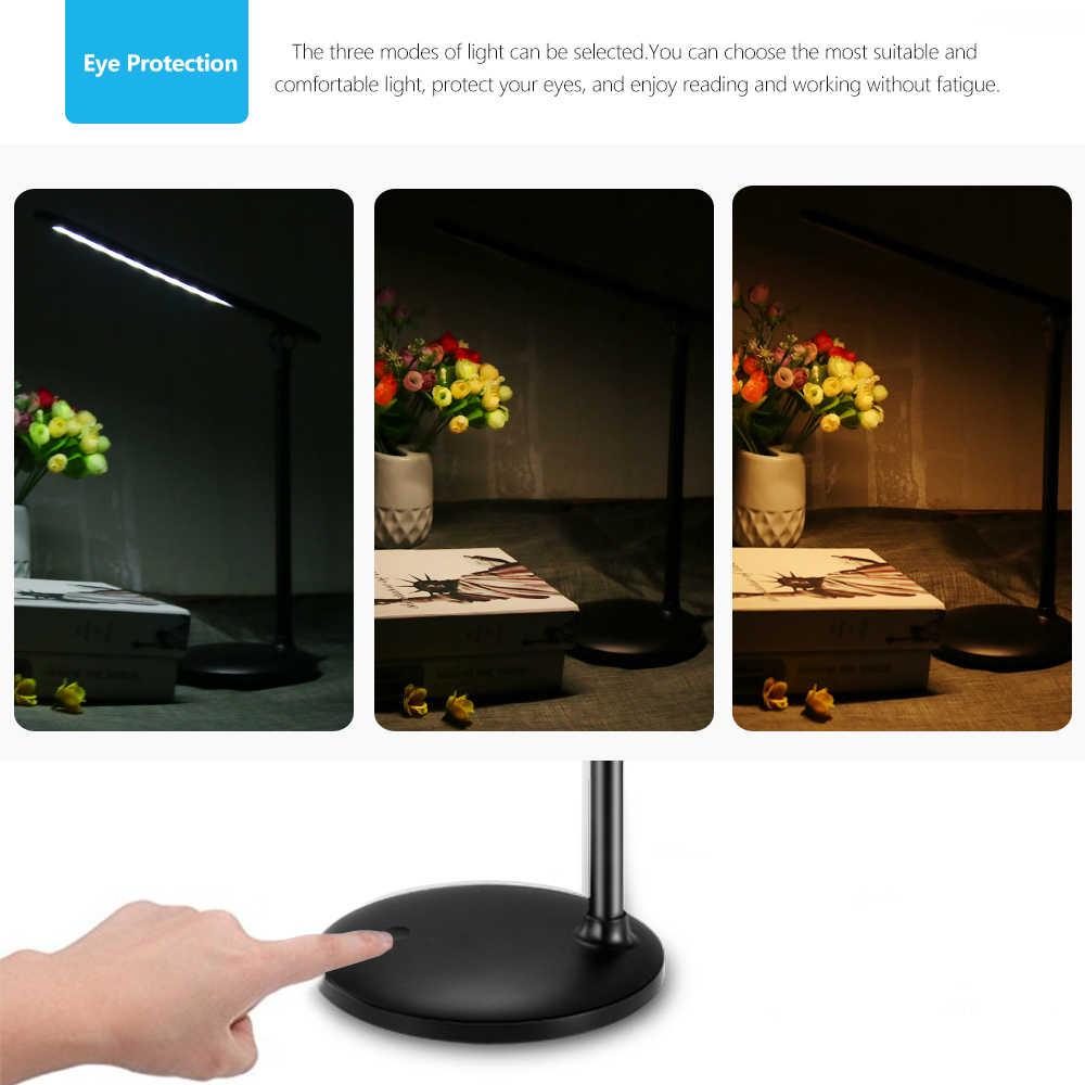 Eye Care Светодиодный лампа Плавная сенсорный диммер настольная лампа 3 цвета режимы Регулируемая 180 градусов вращения настольная лампа