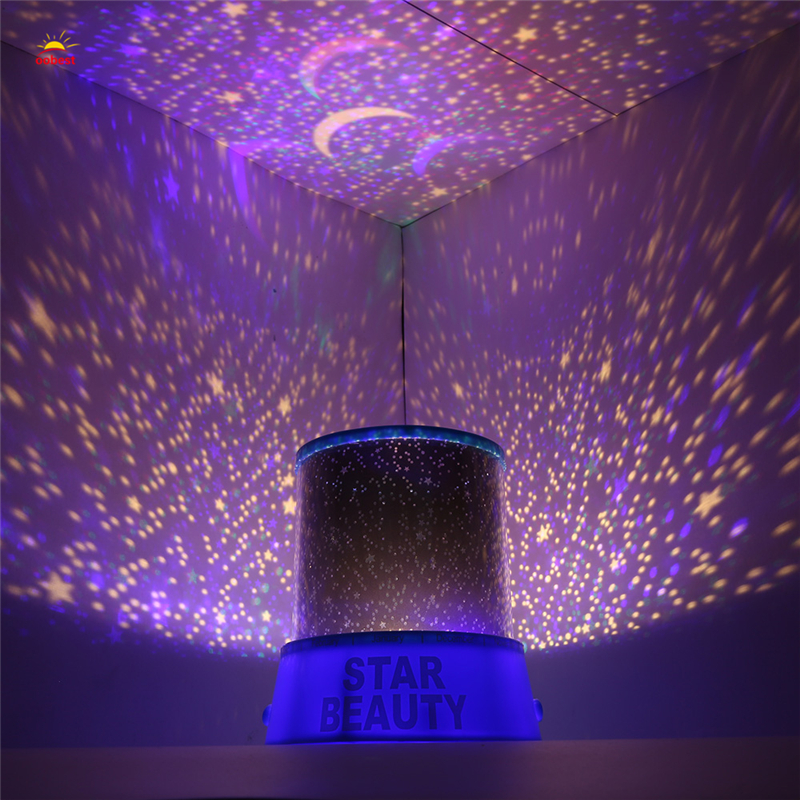 Romantic Amazing Cosmos Moon Colorful Master Star Sky Universal Night Light Kid Chidren  ...