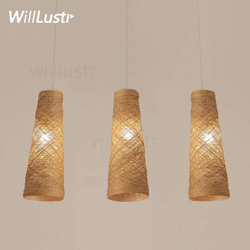 natural handmade wicker pendant lamp home bedroom hotel dinning room restaurant hand knitted wicker suspension hanging light