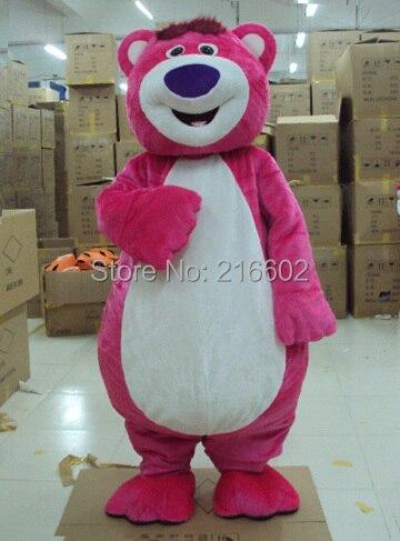 cosplay costumes Pink LOTSO Bear Mascot costume Pink Bear Mascot costume Sales  Free shipping