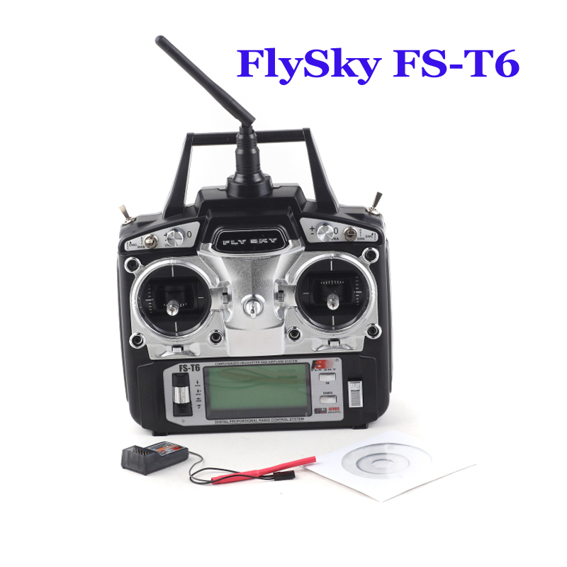 Flysky FS-T6 FS T6 6ch 2.4g Digital Proportional 6 Channel Transmitter and FS R6B Receiver System for DIY Drone gartt flysky fs t6 fs t6 2 4g digital 6 channels transmitter