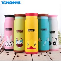 New Cute Animal Style Thermos 450ML Stainless Steel Vacuum Cup Portable Kids Water Bottle Vacuum Flasks
