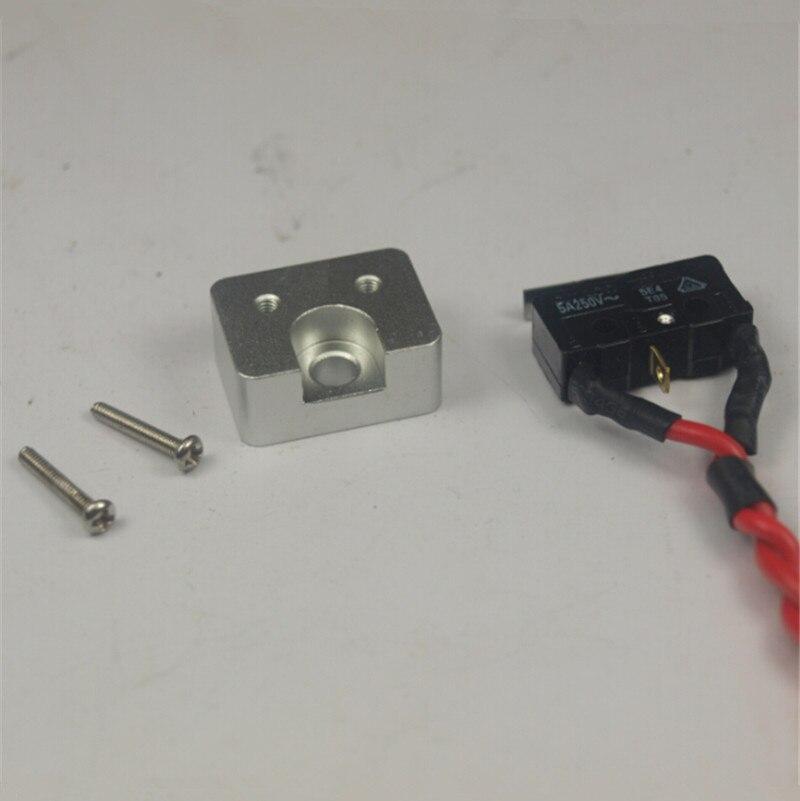 Reprap Delta Rostock kossel k800 metal end stop mount plate +endstop kit for DIY 3D printer aluminum alloy endstop holder