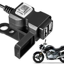 12 V-24 V Dual USB Автомобильное зарядное устройство Порты и разъёмы Водонепроницаемый мотоцикл руль Зарядное устройство адаптер Питание Разъем для iphone samsung huawei