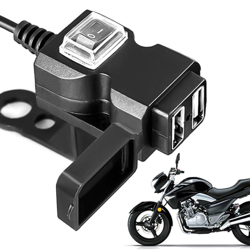 12V-24V double Port USB étanche moto guidon chargeur adaptateur prise dalimentation pour iphone samsung huawei