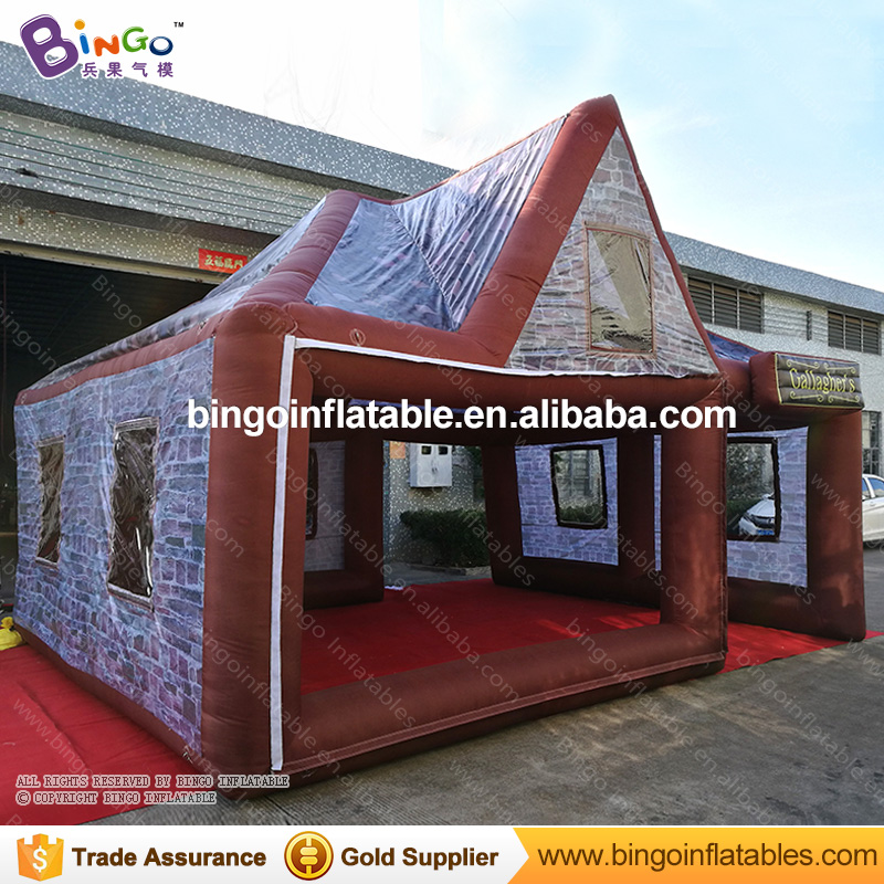 Giant 20ft * 16ft * 16ft Inflatable Pub Tent / Inflatable Pub House / Inflatable Bar Tent with Free Blower Summer Inflatable personal activity inflatable mobile pub tent for family party use
