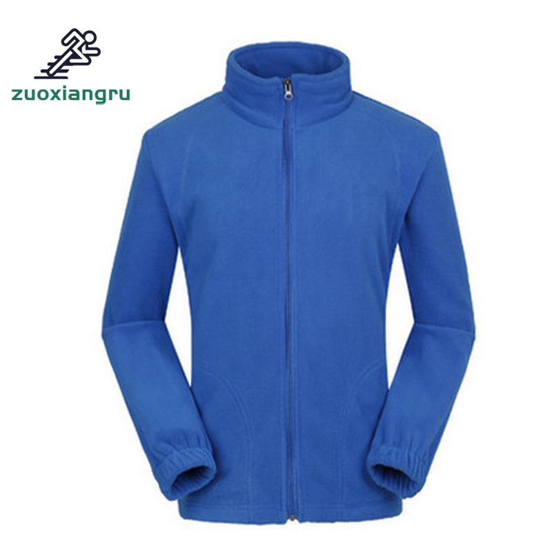 Zuoxiangru Men Hiking Jacket Fleece Outdoor Jackets Softshell Warming Thermal Winter Climbing Hunting Camping Zipper Coat Polar