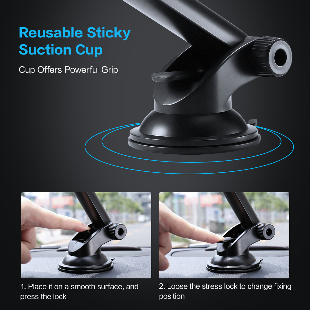 Image 3 - FLOVEME Car Phone Holder For iPhone XS MAX XR X Xiaomi 360 Rotate Dashboard Windshield Car Mount Mobile Holder For Phone Stand-in Phone Holders & Stands from Cellphones & Telecommunications