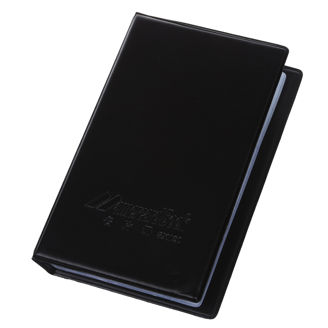 120 Cards Black Leather Business Cards Credit Card Holder Book Case Organizer