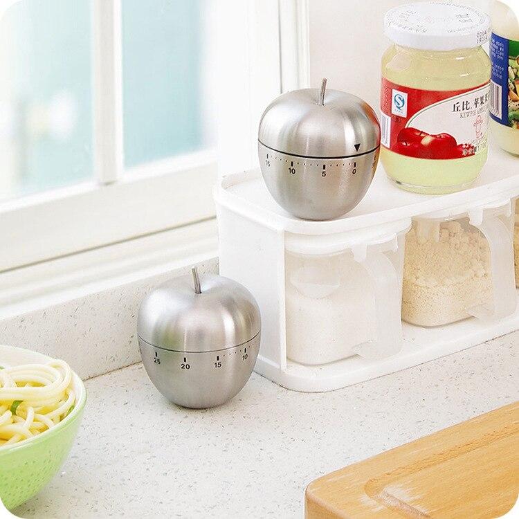 Manzana de acero inoxidable de 60 minutos con temporizador de cocina