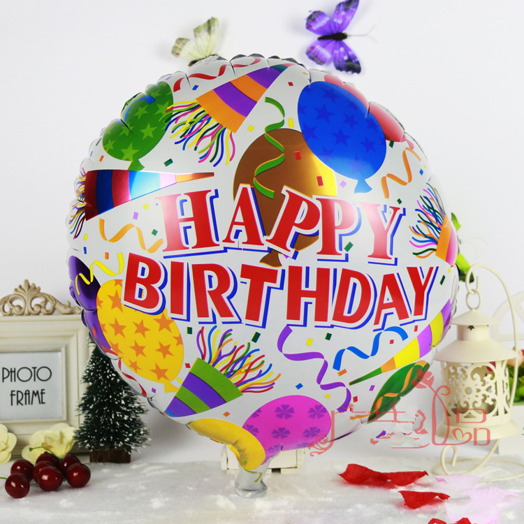 3pcs air balls happy birthday balloon aluminium foil balloons helium balon mylar