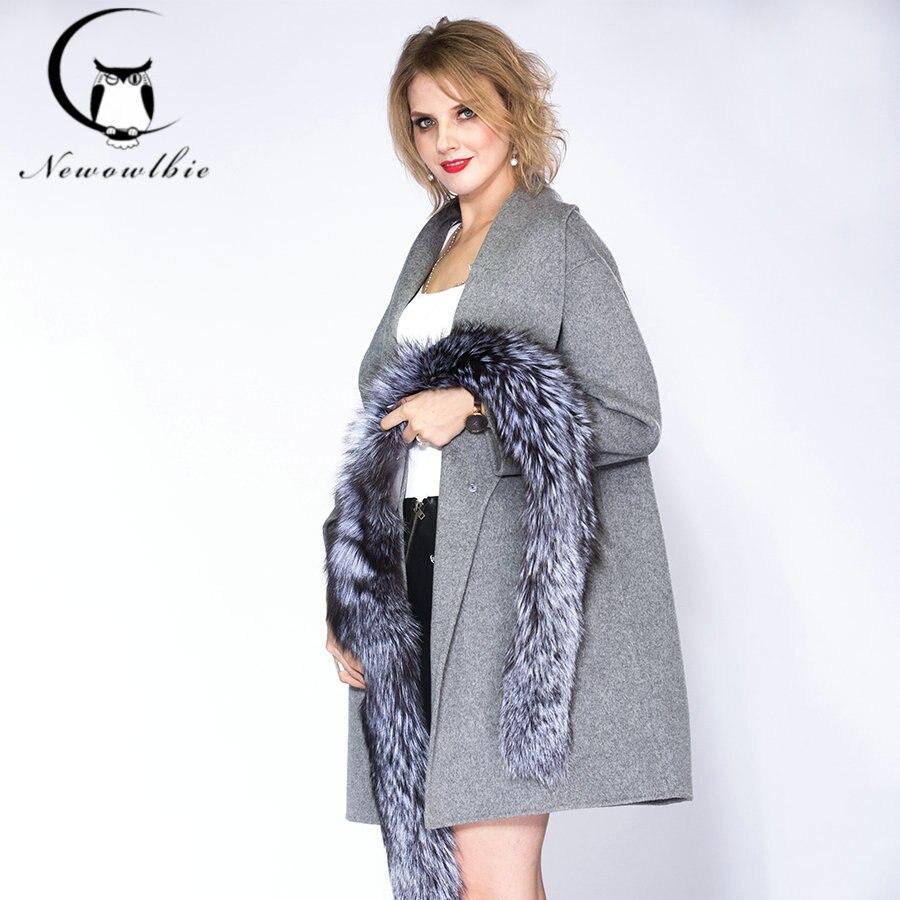 Mode Renard Dame Manteau L'intérieur Femme Un De Hiver 2019 Chaud Fourrure 1 Du Doublure Grand Col 2 À Froid WYIBqwdW