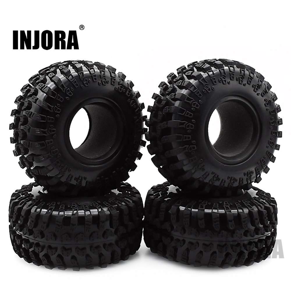 4PCS 2.2 Rubber Tyre Wheel Tires For 1:10 RC Rock Crawler Axial SCX10 RR10 Wraith 90056 90045 90031 90020 YETI