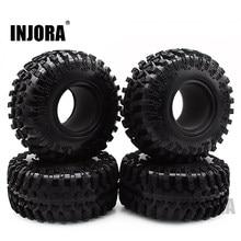 4Pcs 2.2 Rubber Tyre Wheel Banden Voor 1:10 Rc Rock Crawler Axiale SCX10 RR10 Wraith 90056 90045 90031 90020 yeti