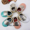2016 Newest Styles Baby Tassel Moccasins 100% handmade Baby Shoes Bow-knot design infant shoes fringe tassel baby shoes