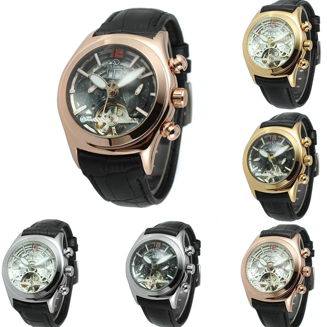 ФОТО Tourbillon Watches Luxury Men Mechanical Watches Fashion Design Men Watch Hours High Quality Accessories