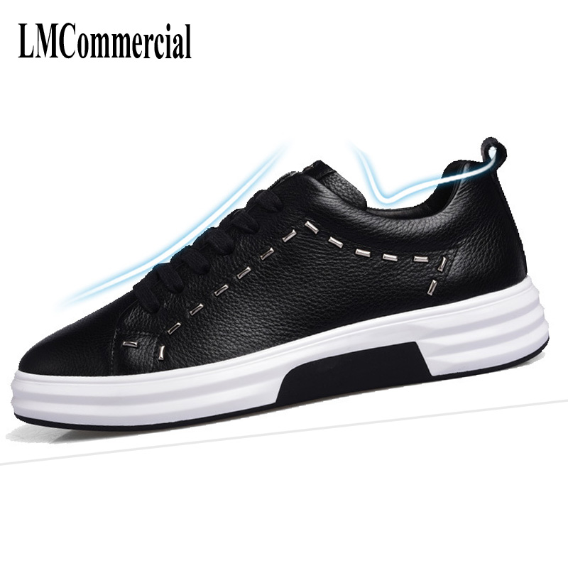 Autumn autumn men  leather shoes mens 2017 new casual shoes all-match thick solid rivets,breathable sneaker,handmade fashion. 2017 new autumn winter british retro men shoes leather breathable sneaker fashion boots men casual shoes handmade fashion