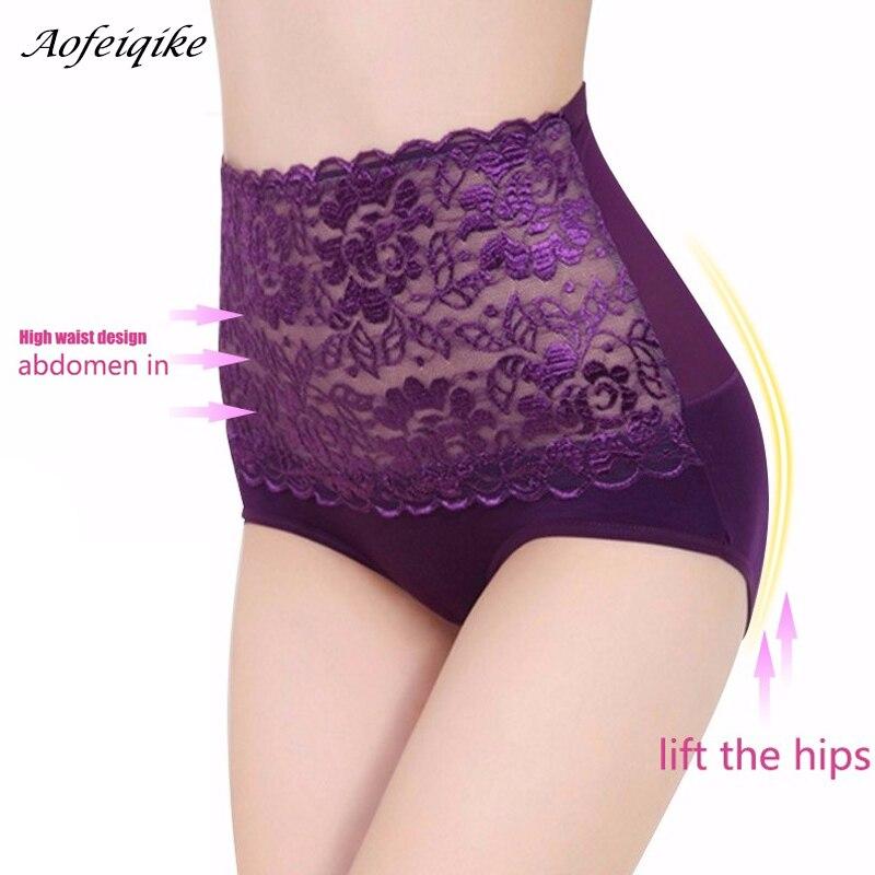 High Waist Body Shaper Briefs Panties Women's Sexy Underwear Slimming Pants Tummy Control Underpants 2018 2