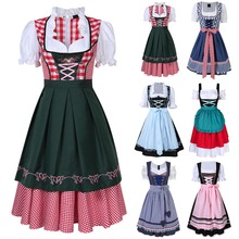 Dirndl Dress German Oktoberfest Bavarian Beer Wench Costume Maid Outfit Fancy