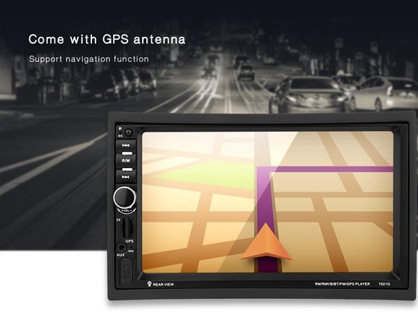 купить 7021G 7 inch 2 Din Car TFT MP5 Bluetooth Multimedia Player With GPS+Southeast Asia Map FM Stereo Radio Video Player по цене 4668.03 рублей