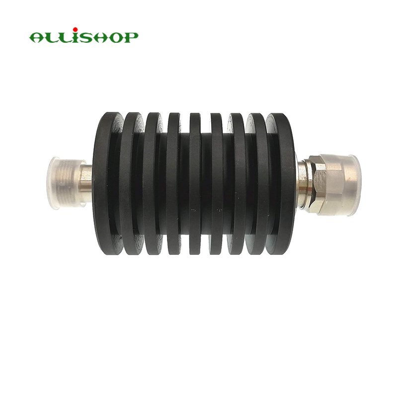 ALLiSHOP N Male to N Female Attenuator connector DC-3GHz 50W watt 1-50dB Power Attenuator Round high power 100w watt n male to n female attenuator dc 3ghz 30db coaxial power with heat sink attenuator free shipping