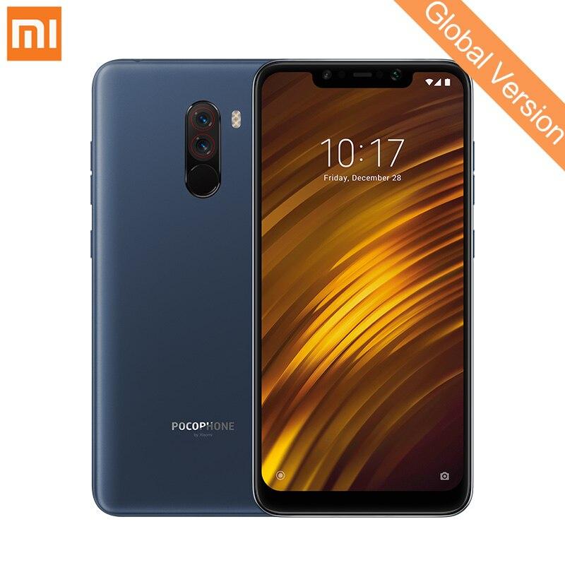 Mondial Version Xiaomi POCOPHONE F1 6 gb 128 gb Mobile Téléphone Snapdragon 845 Octa Core 6.18 2246x1080 FHD AI Double Caméra 4000 mah