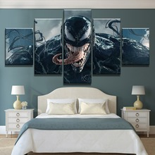 New 5 Piece HD Print Venom Marvel Movie Poster Cuadros Decoracion Paintings on Canvas Wall Art for Home Decorations Decor