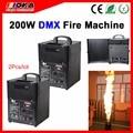 2 Teile/los 200 Watt DMX 512 feuer maschine bühneneffektgeräte feuer flamme maschine Für Stadiums lichteffekt automatisch stoppen|fire flame machine|dmx 512flame machine -