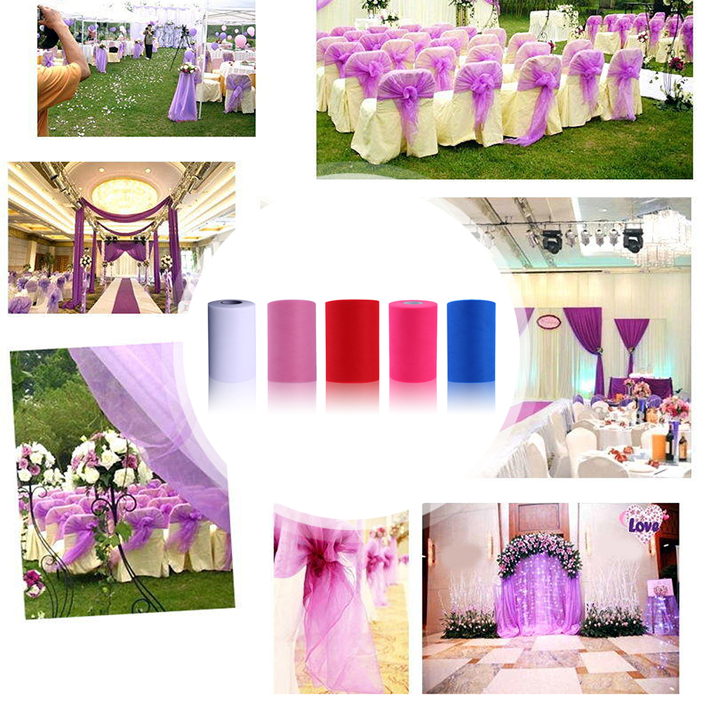15cm X 100 Yards Glitter Tulle Roll Sequin Party Supplies Wedding ...