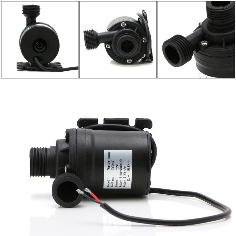 800L/H 5m DC 12V 24V Solar Brushless Motor Water Circulation Water Pump new 12v dc 1 2a micro submersible motor water pump 5m 14l min 840l h 6 15v