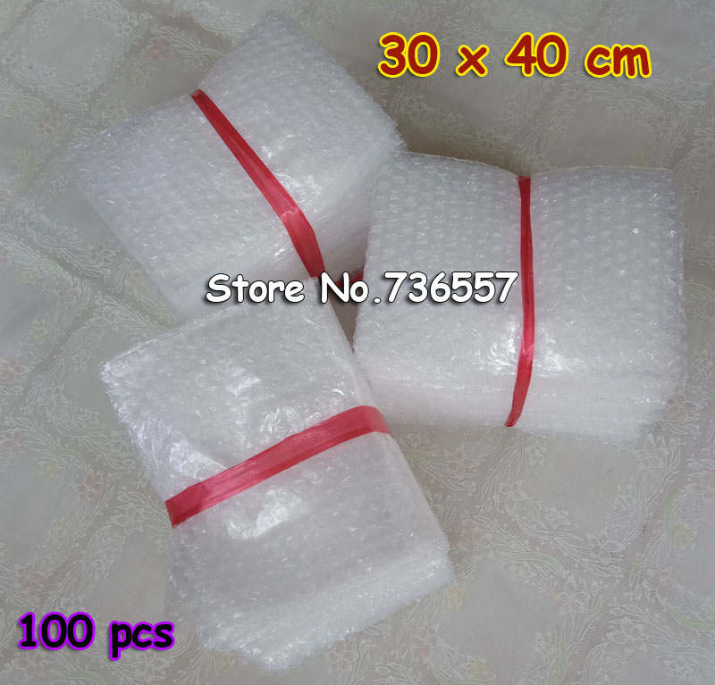 30*40cm 100pcs New Bubble Envelopes Wrap Bags/ Anti-static Pouches/ White Color PE Mailer Packing Bag Free Shipping