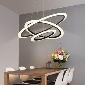 Image 1 - Acrylic Rings led Chandelier hanglamp Chandelier Lighting for living room dining room suspension luminaire modern chandelier
