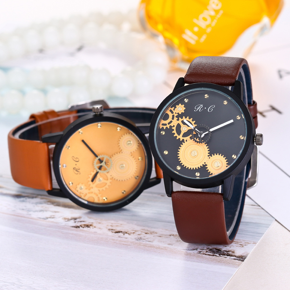 High Quality Fashion Business Quartz Watch Men Women Wrist Watches Fashion Faux Leather Band Female Clock stylish bowknot decorated wavy edge beach straw hat for women