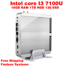 Mini PC Intel 7e Gen Kaby Lac Windows 10 i3 7100U 16GB RAM 128GB SSD 1TB HDD 300 M Wifi TV Box Free Shipping usb 3.0 Computer