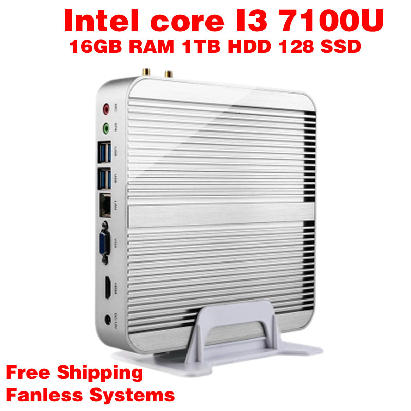 Mini PC Intel 7e Gen Kaby Lac Windows 10 i3 7100U 16GB RAM 128GB SSD 1TB