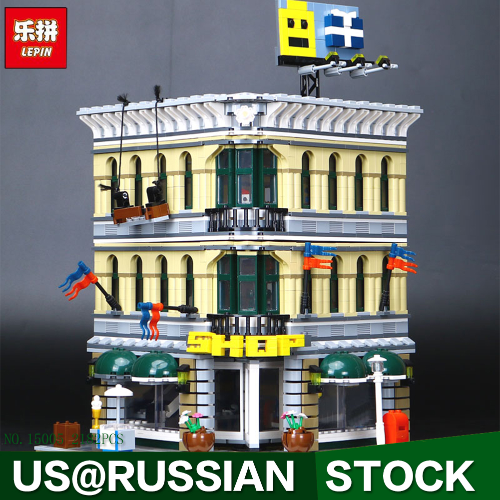 LEPIN Bricks 15005 Presale City Creator Grand Emporium Model Building Blocks Kits 2182pcs Brick Toy classic lele 30004 grand emporium creator architecture building blocks bricks toys diy for children model compatible with 10211