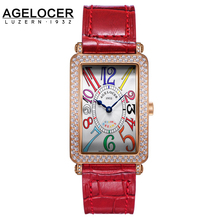 2017 Agelocer Luxury Swizterland Brand Women Watches Diamond clock Bracelet Ladies Dress Wristwatch with Gift Box female