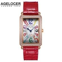 2017 agelocer swizterland mujeres de la marca de lujo relojes de diamantes reloj de pulsera de las señoras vestido reloj de pulsera con caja de regalo mujer