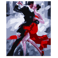 DIY Digital Painting Sexy Dancer Photo Lover Romantic Kiss Painted Oil Painting For Home Decor Abstract