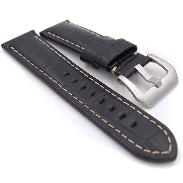 Men 22mm 24mm Handmade Italian Retro Brown Green Yellow Blue Watch Band Genuine Leather Vintage Strap for PAM for Panerai  Watch
