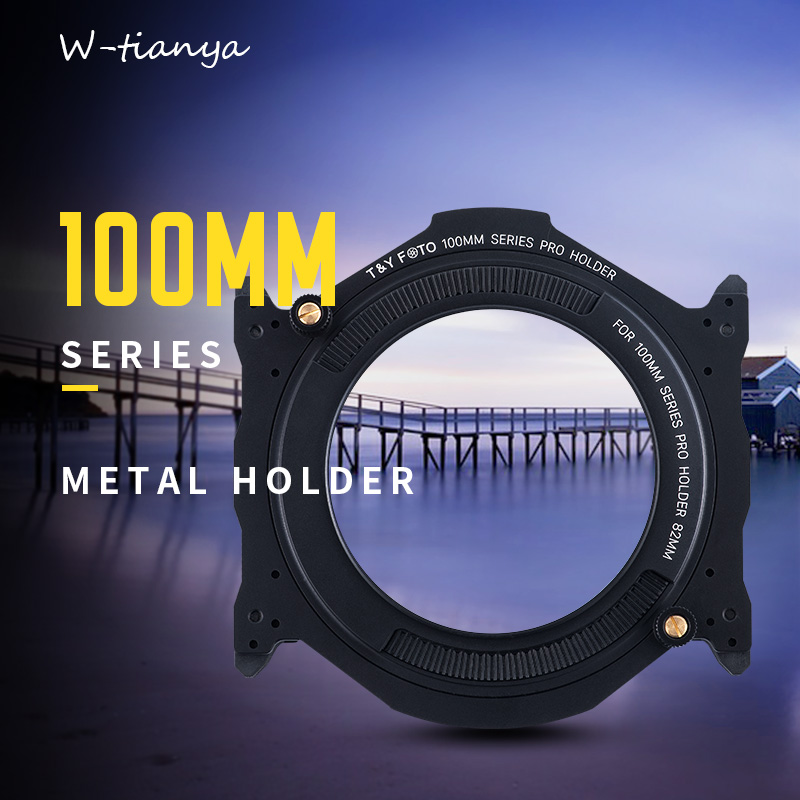 wtianya T Y foto 100MM square gradient filter bracket system plug filter holder with polarizer can