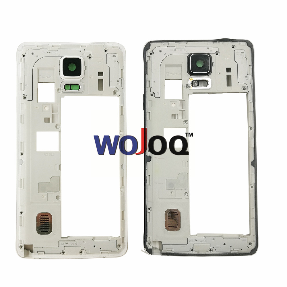 Original New For Samsung Note 4 N910 N910F N910V N910C N910 Middle Chassis  Plate Bezel Mid Housing Frame Bezel Housing Repair