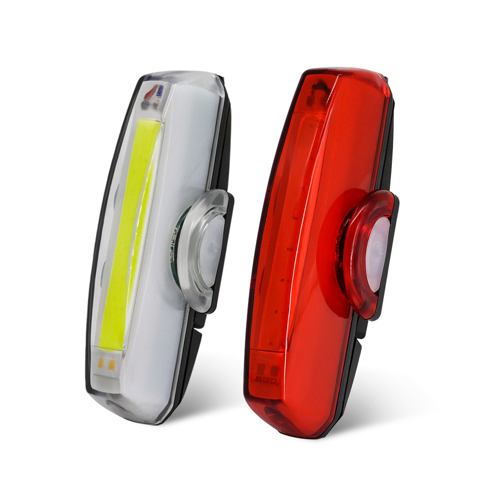 High Quality <font><b>USB</b></font> <font><b>Bike</b></font> <font><b>Light</b></font> <font><b>Set</b></font> Wide Beam Angle LED Bicycle Front Lamp and <font><b>Bike</b></font> Tail <font><b>Light</b></font> Waterproof Safety Cycle <font><b>Lights</b></font> LED image