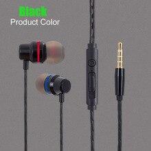 Hot Marca de Fone de ouvido de Metal fone de Ouvido Estéreo de 3.5mm Jack de fone de ouvido Com Cancelamento de Ruído Fones de Ouvido para Xiaomi Redmi 3 s Pro 3 s prime 3 gb de RAM