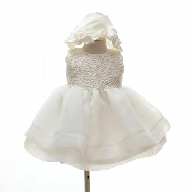 455165f17e19 ... 3-24 Month Baby Girls Elegant Communion Dresses White Kids Princess  Party Wedding dress Christening ...