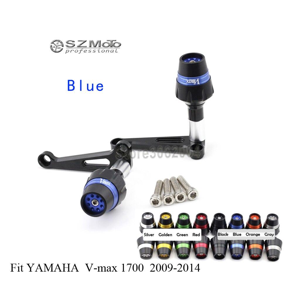 Cadre curseur Crash protecteur bobines Protection contre les chutes Mortorcycle pour YAMAHA V-MAX 1700 Vmax 1700 2009-2014 Logo CNC