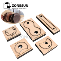 ZONESUN RCP Horseshoe bag wallet leather cutting die Japan steel Blade coin purse leathe cutter mold DIY leather laser knife die
