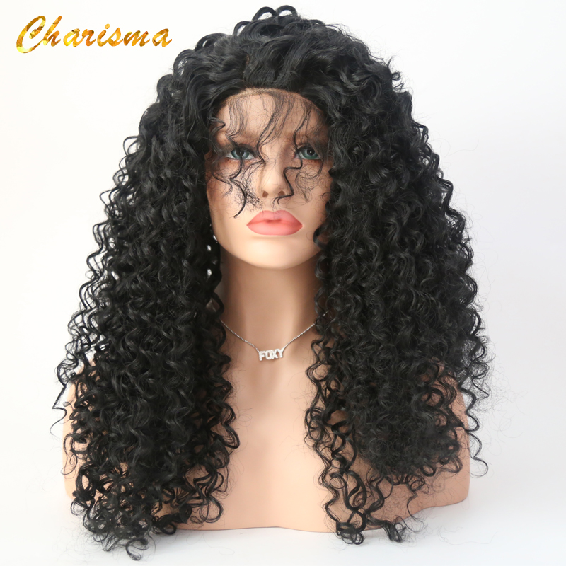 Charisma Kinky Curly Lace Front Wigs Synthetic Lace Front